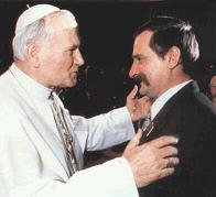 Lech Wałęsa u Jana Pawła II